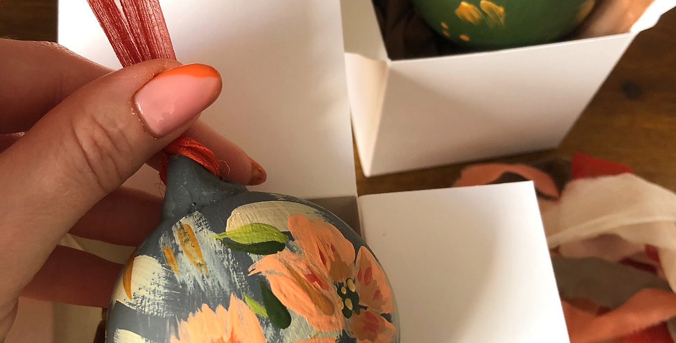 Abstract Floral Bauble