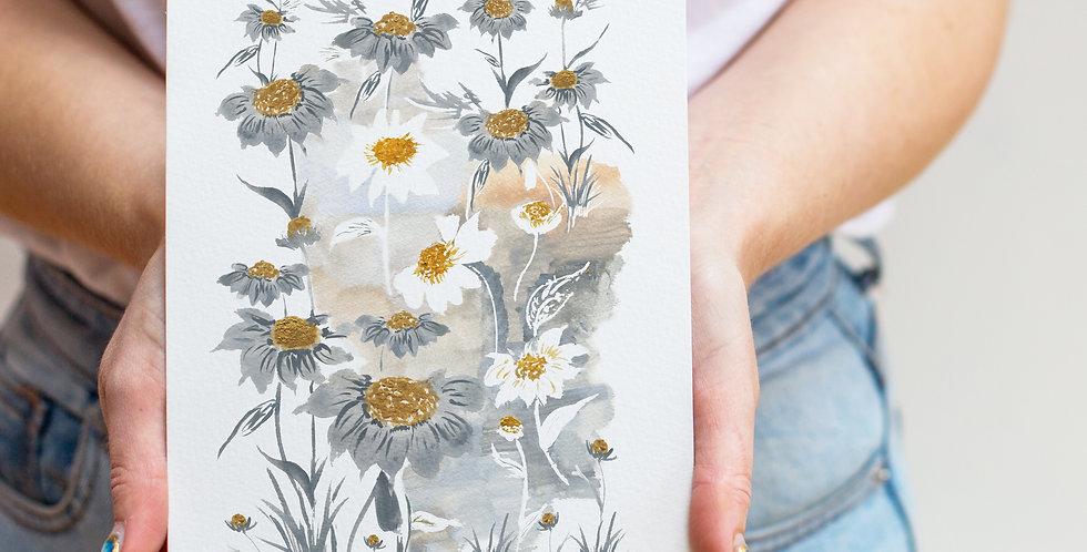 Daisy Birth Flower Print & Name
