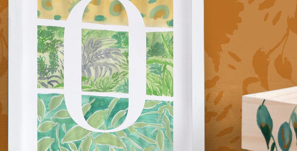 Jungle Initial Print & Pom Pom Garland Gift Set