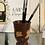 Thumbnail: Peachy floral Paint Brush Pot & brushes