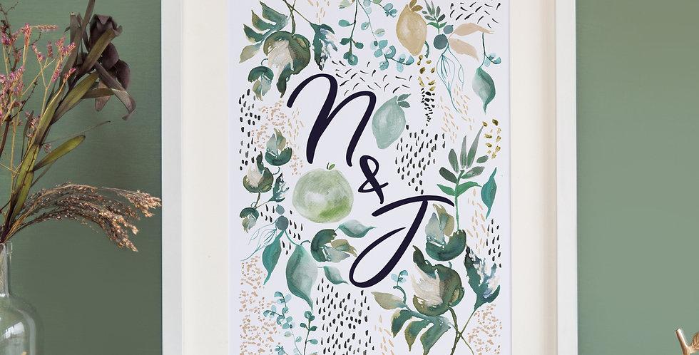 Fruit & Foliage - Initial Print
