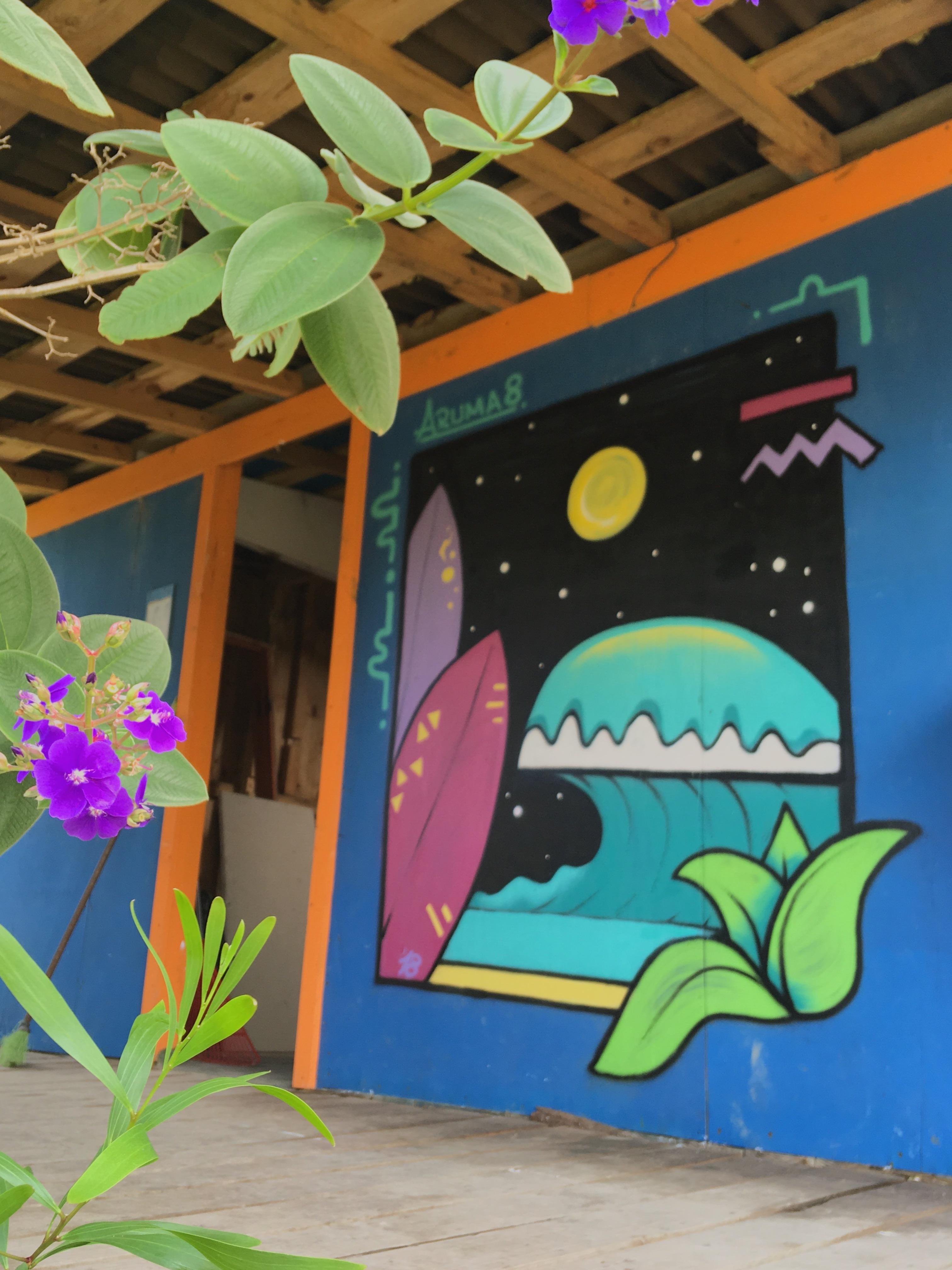 Mural for a hostel in Uruguay