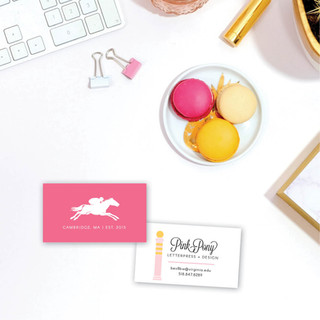 Pink Pony Letterpress Business Card