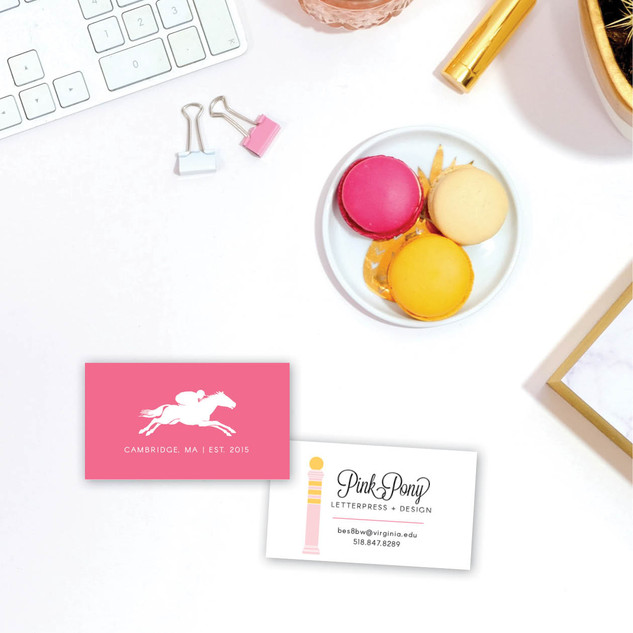 Pink Pony Letterpress Business Card