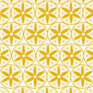 Hex Pattern in Yellow