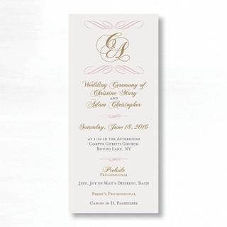 Hall of Springs- Wedding Program