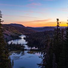 Twin Lakes Cloudy Sunrise
