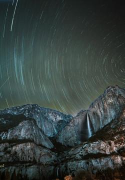 Star trails, Yosemite Valley