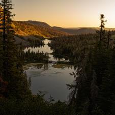 Twin Lakes Warm Sunrise