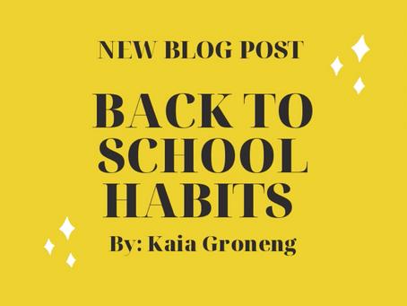 Back to School Habits