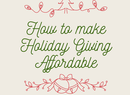 How to Make Holiday Giving Affordable