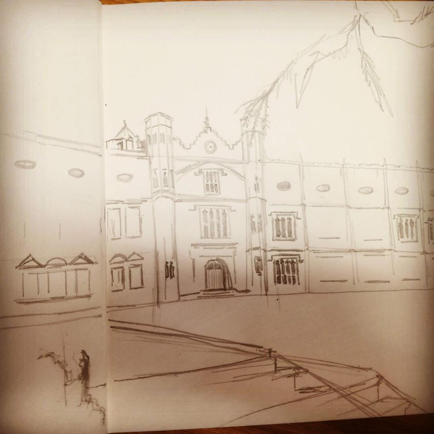 Amy Hutchings - Ashton Court Sketch 1