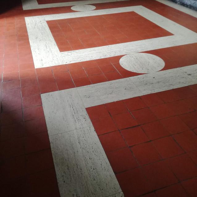 Amy Hutchings - Tiled floor