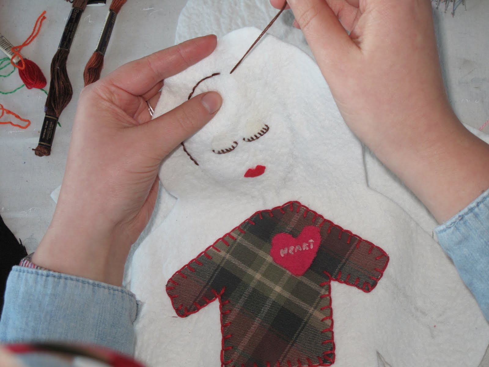 learning embroidery and applique