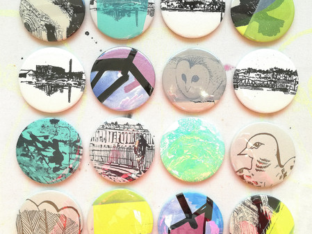 Hand-Printed Compact Mirrors now on sale!