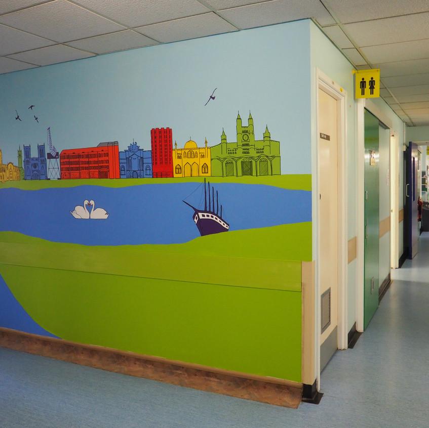 Amy Hutchings - BEH Skyline Mural