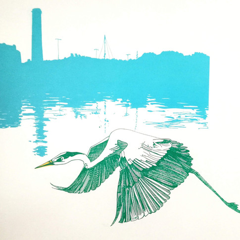 Amy Hutchings - Heron on the Harbour