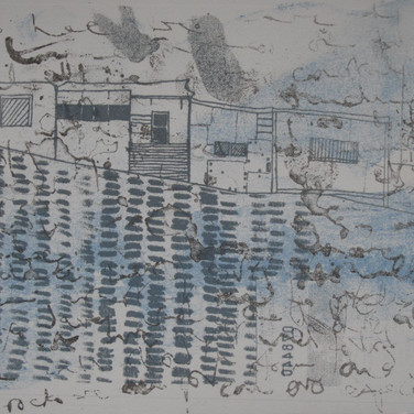 Amy Hutchings - Fishing huts on the harbour