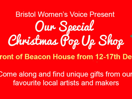 Bristol Women's Voice Pop-up shop