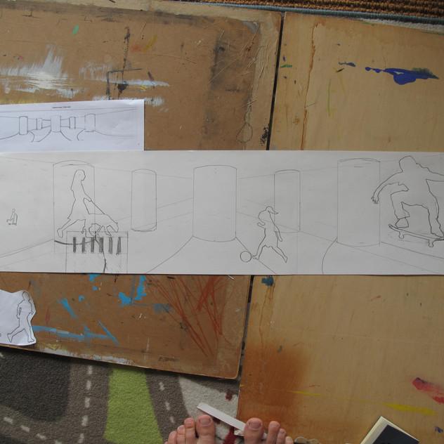 Amy Hutchings - Cumberland Piazza sketch 2