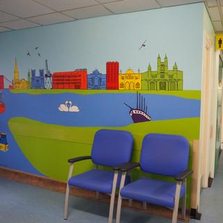 Amy Hutchings - Skyline Mural, Bristol Eye Hospital