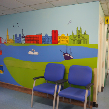 Amy Hutchings - Skyline Mural, Bristol Eye Hospital