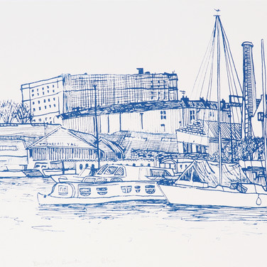 Amy Hutchings - Bristol Boats in Blue 20