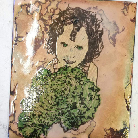 Amy Hutchings - My littlest with a lettuce