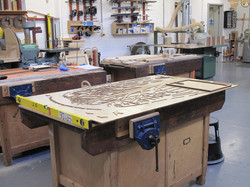 Amy Hutchings - Hotwells PTA commission on the work bench