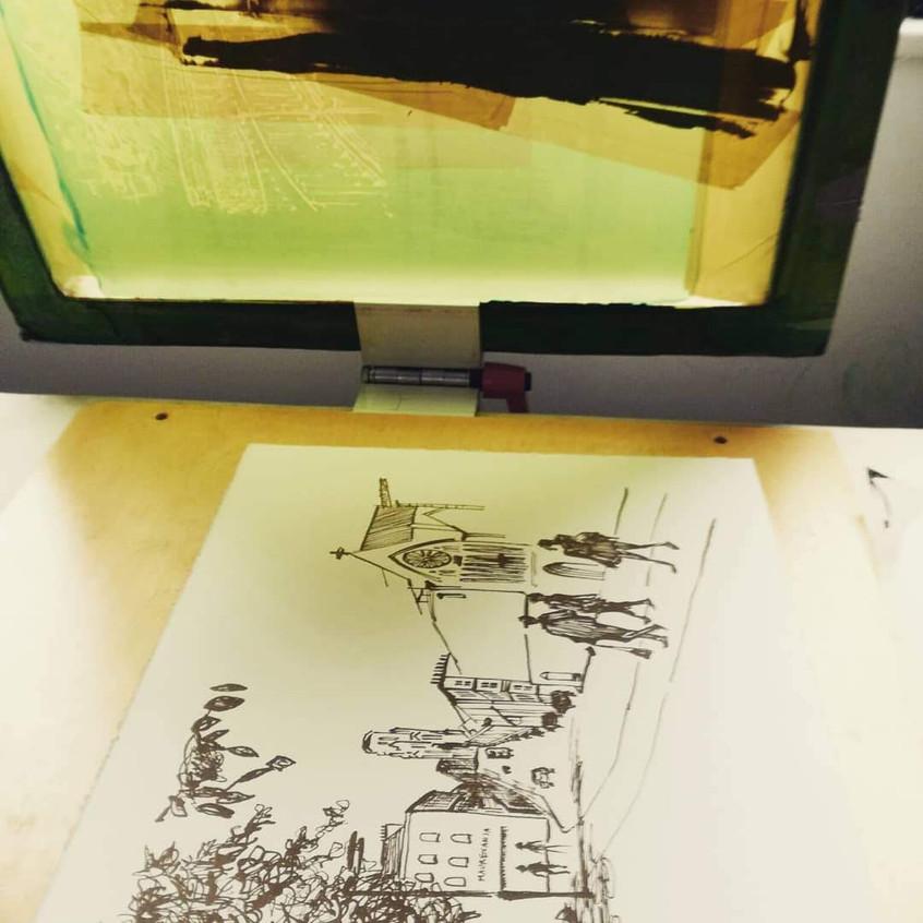 Amy Hutchings - printing Park Street