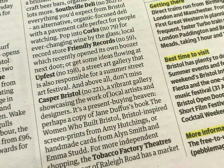Mentioned in the Guardian!!!