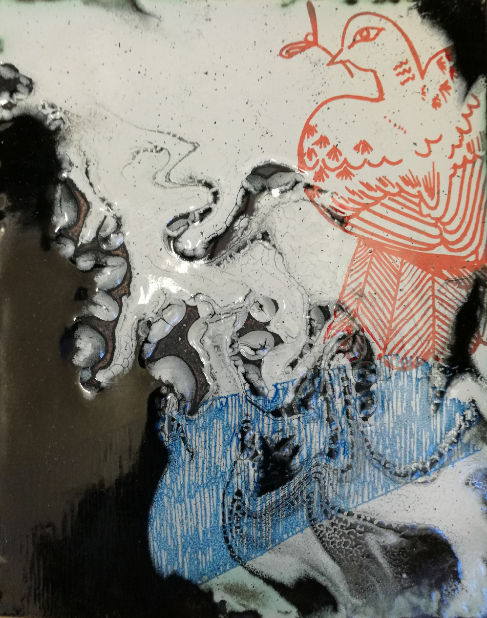 Amy Hutchings - Dove enamel