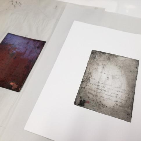 Amy Hutchings - Printing an enamel plate