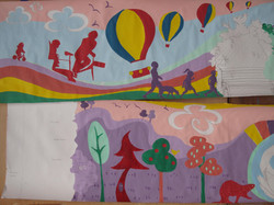 Amy Hutchings Prints - two sections of mural