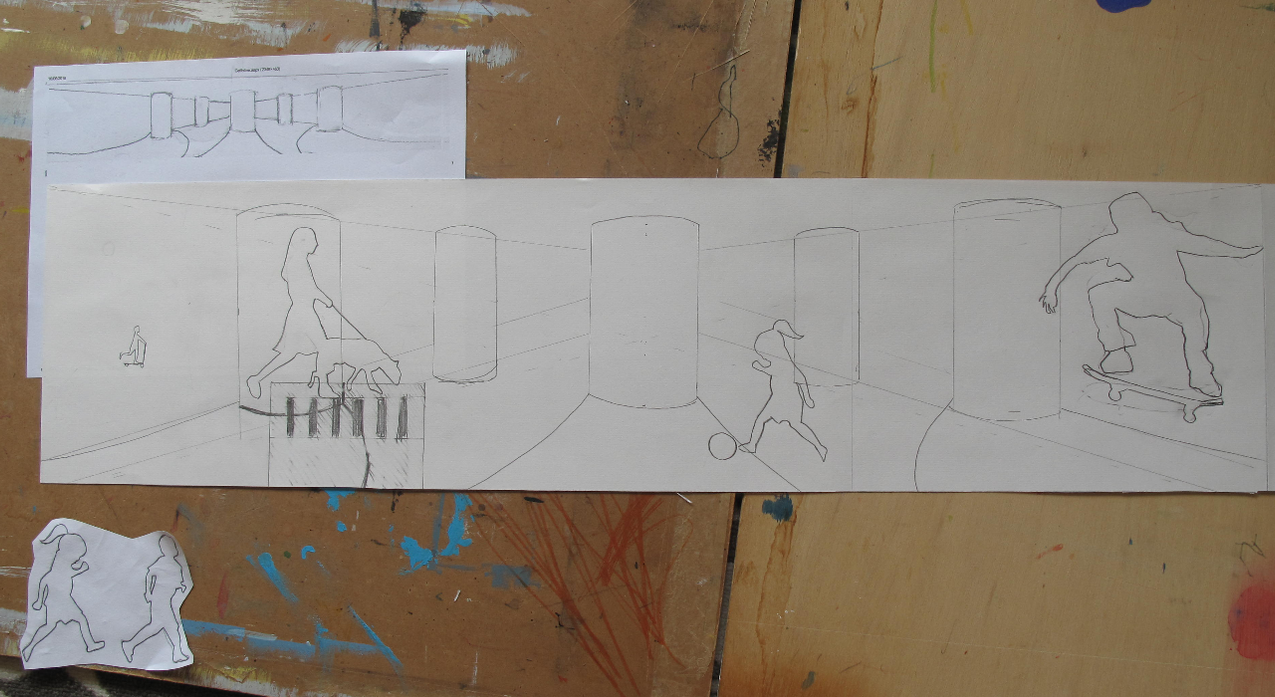 Amy Hutchings - Cumberland Piazza sketch 1