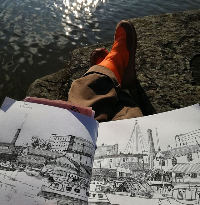 Amy Hutchings - Harbour Sketch
