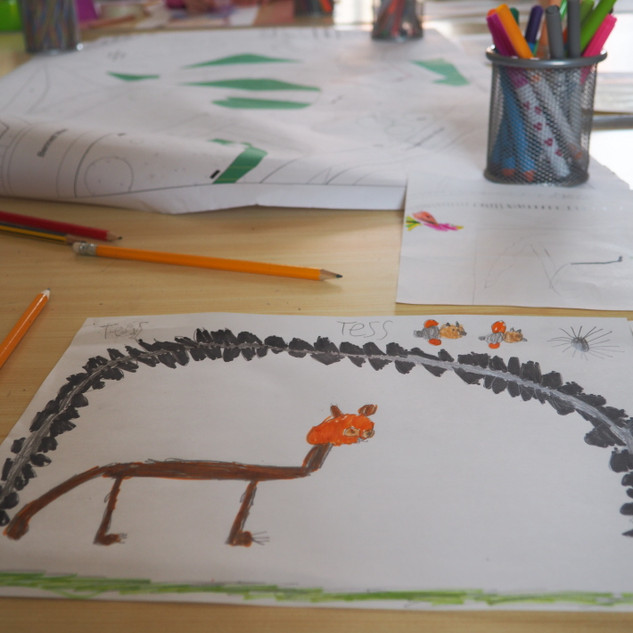 Amy Hutchings - Primary school.My cat and the Suspension Bridge