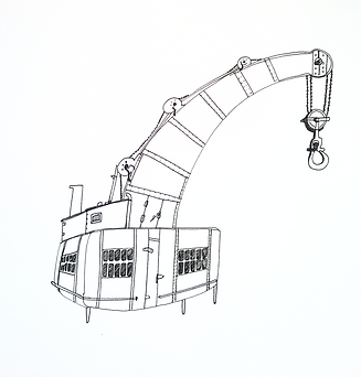Drawing of Fairbairn Crane, Bristol