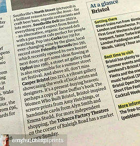Amy Hutchings - Mention in the Guardian