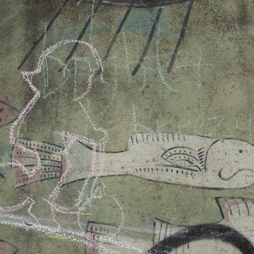 Amy Hutchings - sketch chlid mural