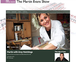 AmyHutchings-Martin Evans Show Interview
