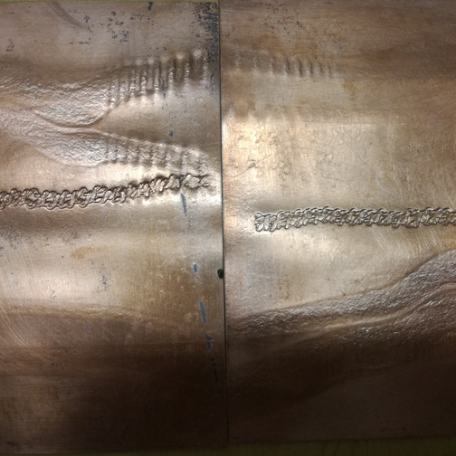 Amy Hutchings - Embossing copper