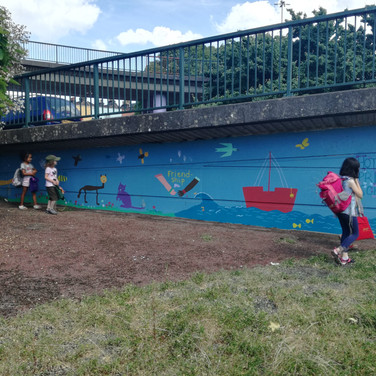Amy Hutchings - Cumberland Piazza Children's Mural