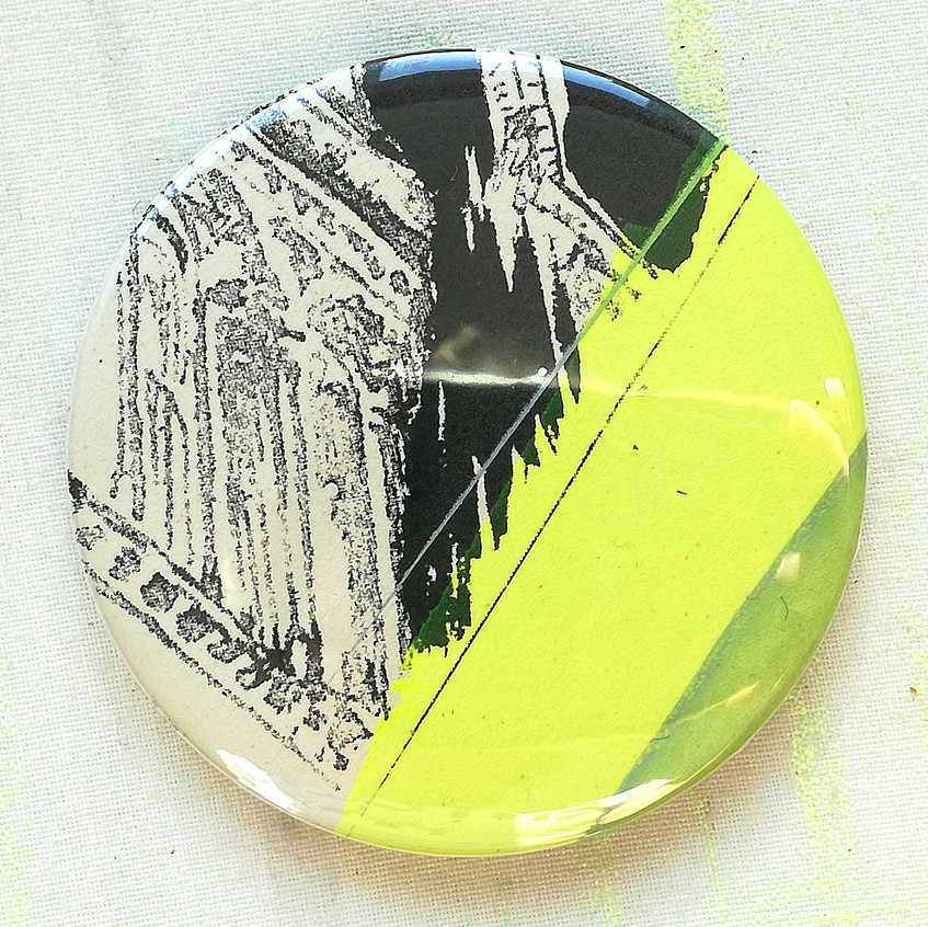 Amy Hutchings - Hand printed mirror