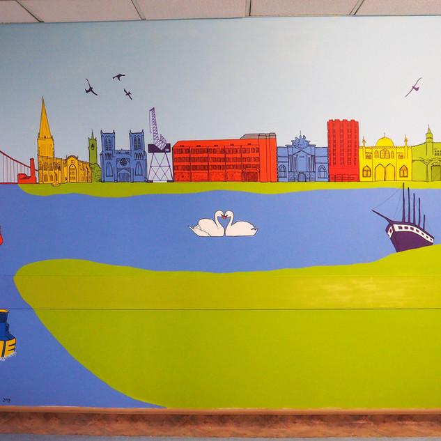 Amy Hutchings - Bristol landmark Mural