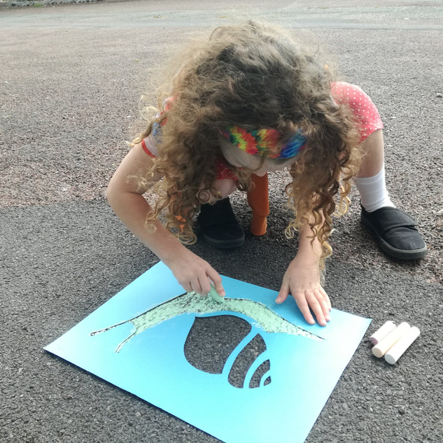 Amy Hutchings - Snail chalking