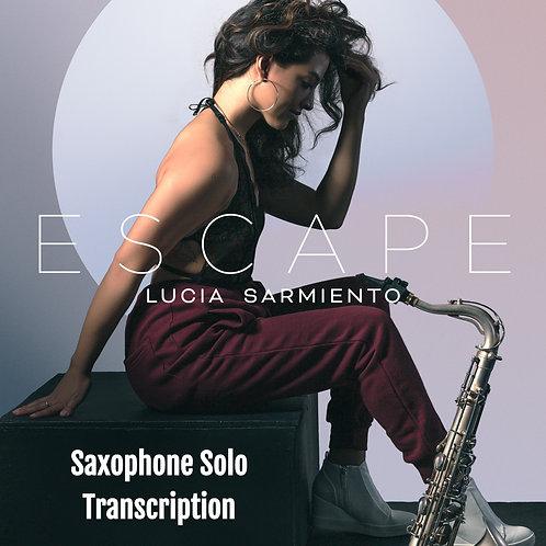 Escape Sax Solo - Eb, Bb and Concert