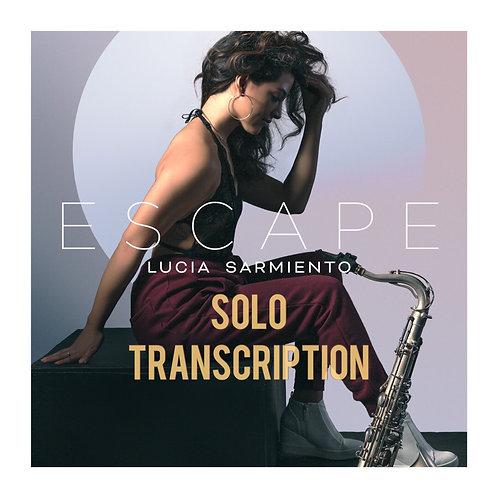 """""""Escape"""" Solo Transcription (PDF) - Bb, Eb and C"""