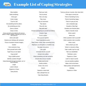 Example List of Coping Strategies