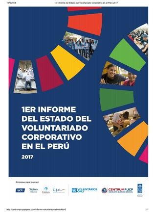 1er Informe del Estado del Voluntariado Corporativo en el Perú 2017